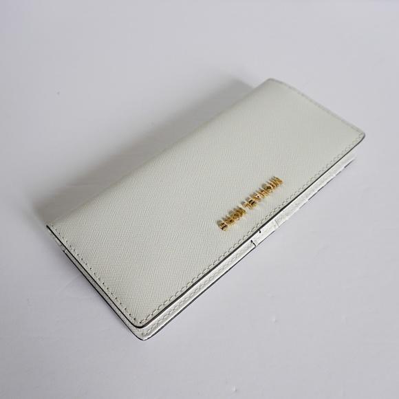 9d36e59c232f Michael Kors Jet Set Travel Flat Slim Wallet White